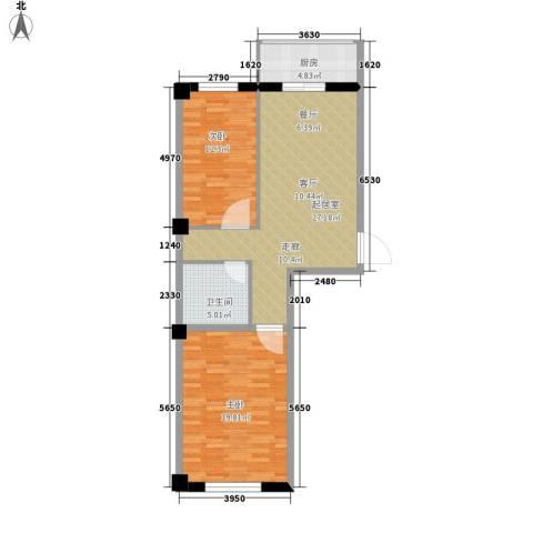 大众花园2室0厅1卫1厨98.00㎡户型图