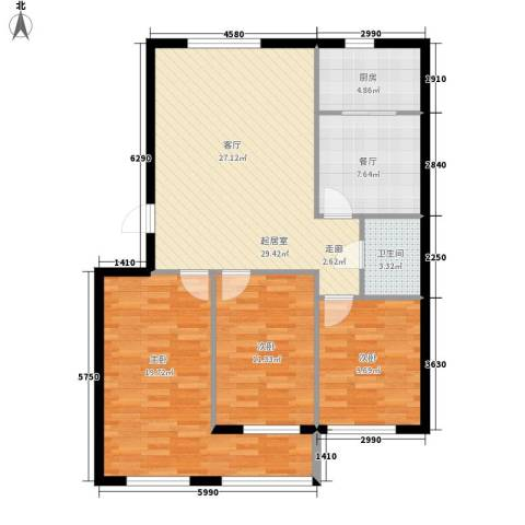 希格玛大厦3室1厅1卫1厨119.00㎡户型图