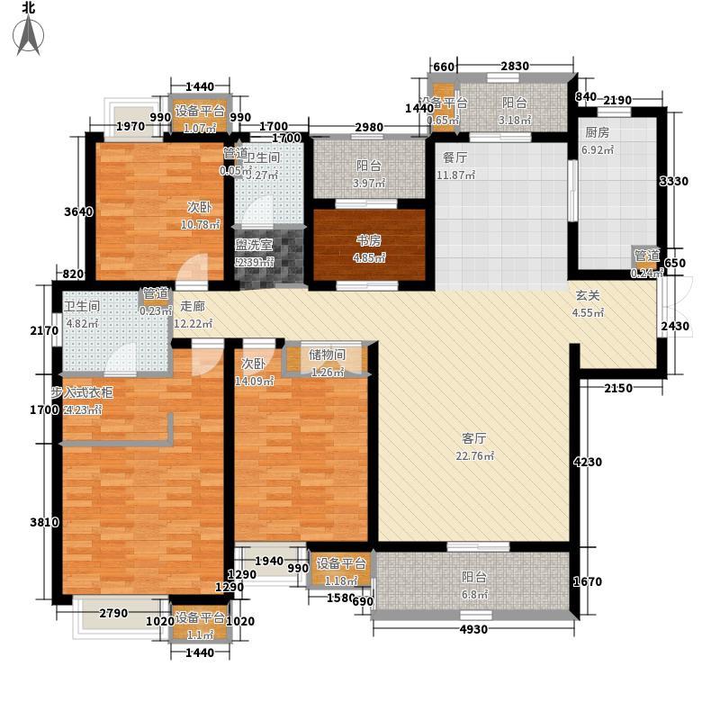 太湖国际社区160.55㎡聆湖J1户型4室2厅