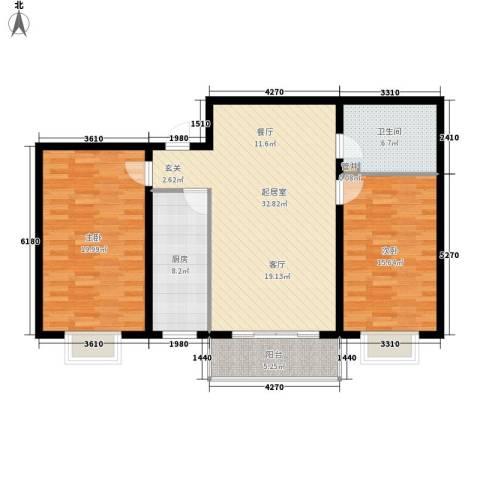 万锦花语岸2室0厅1卫1厨99.00㎡户型图