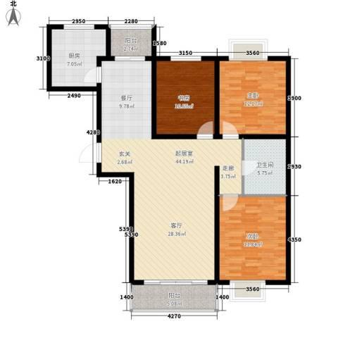 万锦花语岸3室0厅1卫1厨115.00㎡户型图