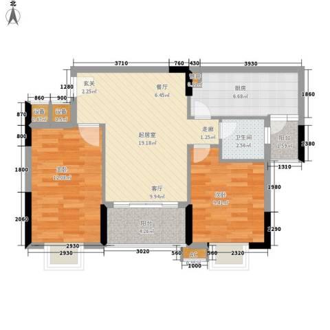 惠百氏广场2室0厅1卫1厨66.00㎡户型图