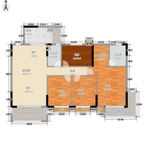 金河湾家园4室0厅2卫1厨154.00㎡户型图