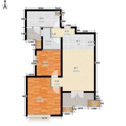 路劲i主场2室0厅1卫1厨85.00㎡户型图