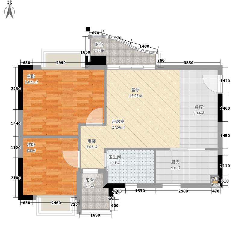 阳光假日园75.17㎡A3标准层03单面积7517m户型
