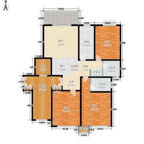 苏宁馨瑰园3室0厅2卫1厨203.00㎡户型图