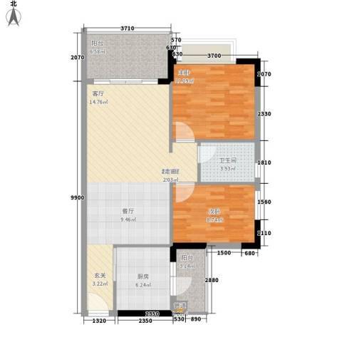 阳光假日园2室0厅1卫1厨78.00㎡户型图