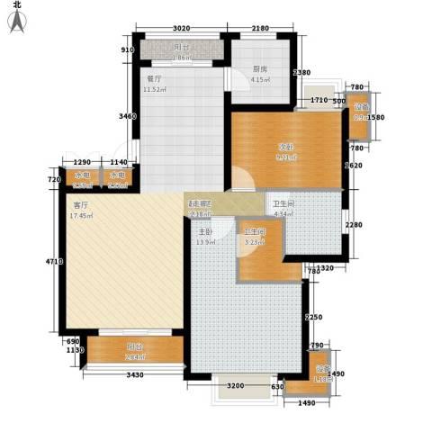 天房美域2室0厅2卫1厨110.00㎡户型图