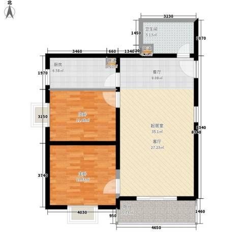 凯森福景雅苑2室0厅1卫1厨88.00㎡户型图
