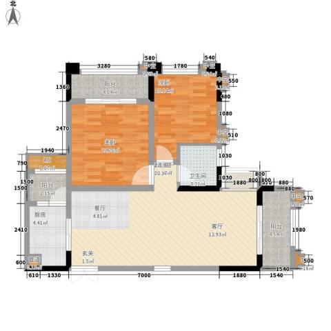 东城摩尔2室0厅1卫1厨111.00㎡户型图