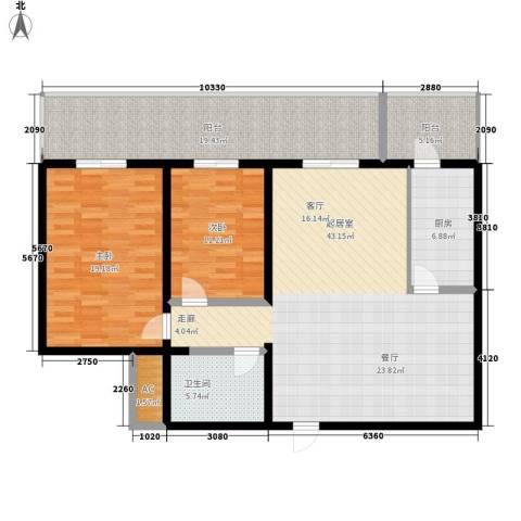 凤城明珠2室0厅1卫1厨126.00㎡户型图
