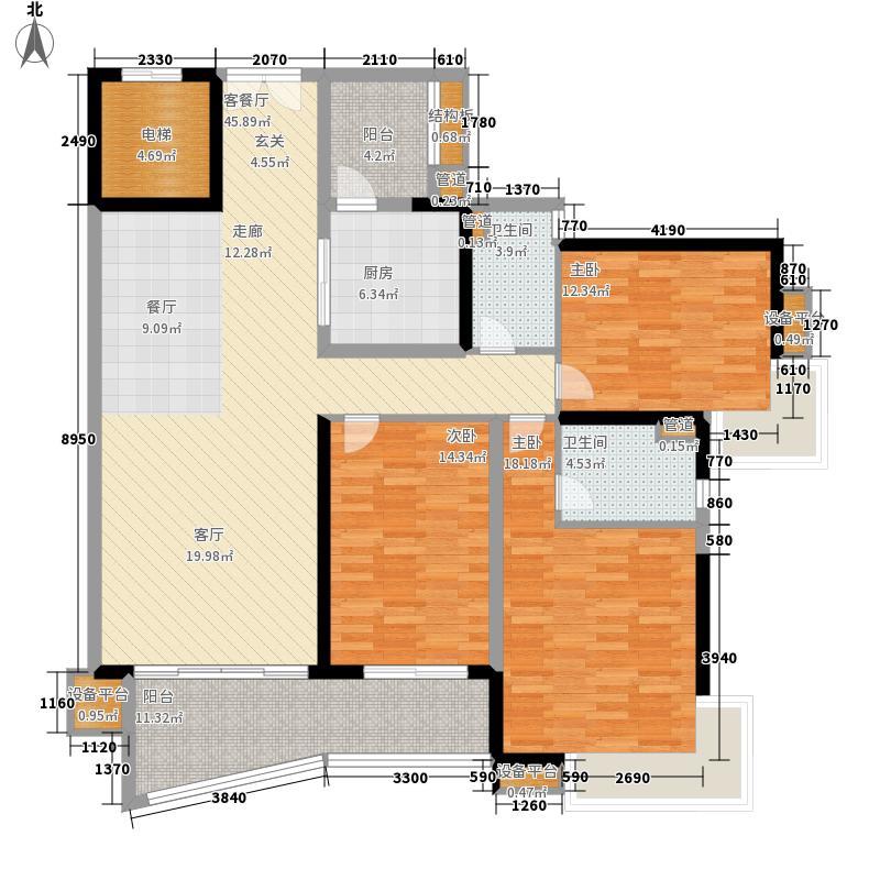 中海金沙湾147.58㎡B3栋29-33层0面积14758m户型