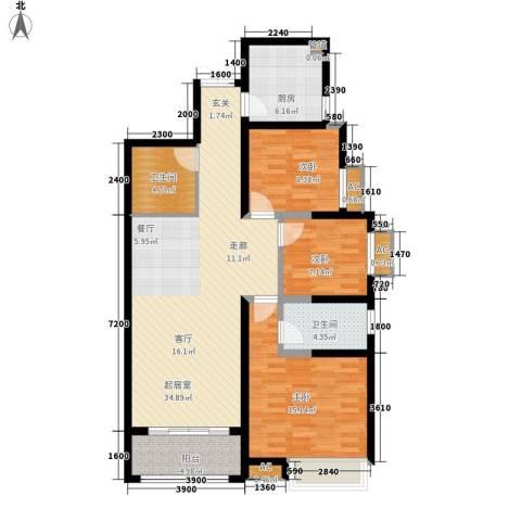 阳光台3653室0厅2卫1厨114.00㎡户型图