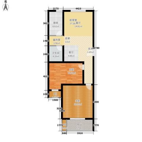 东城摩尔2室0厅1卫1厨106.00㎡户型图