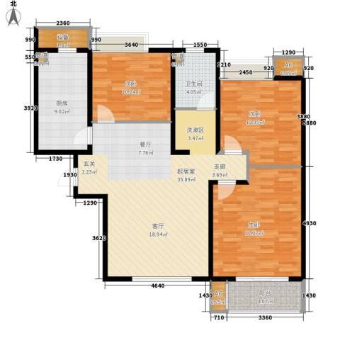 路劲i主场3室0厅1卫1厨108.00㎡户型图