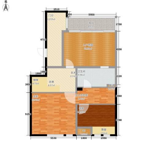 金地名京2室0厅1卫0厨156.00㎡户型图