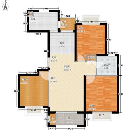 运河新村3室0厅1卫1厨107.00㎡户型图