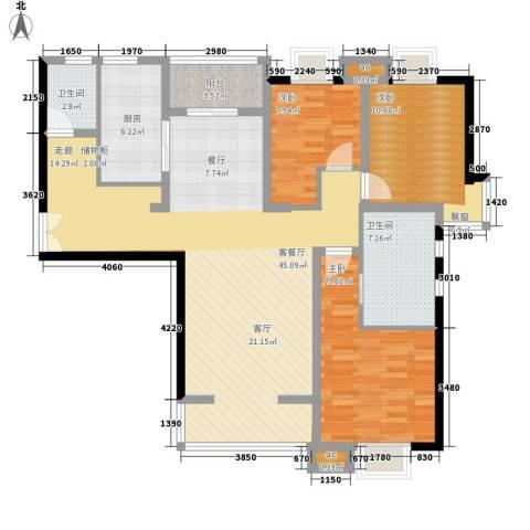 居礼3室1厅2卫1厨148.00㎡户型图