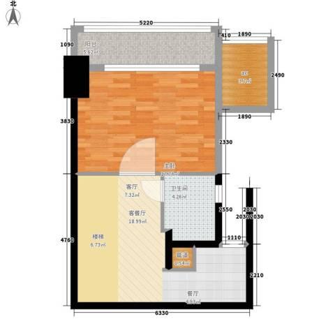 金地名京1室1厅1卫0厨70.00㎡户型图