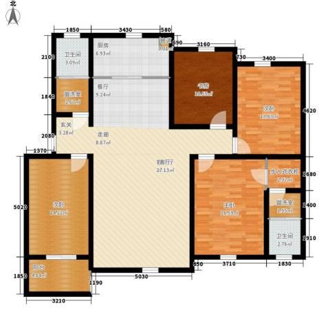 华阳山庄4室1厅2卫1厨147.00㎡户型图
