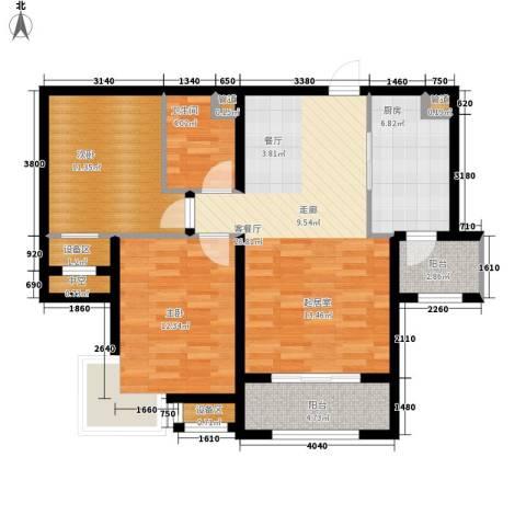 梧桐大道2室1厅1卫1厨106.00㎡户型图