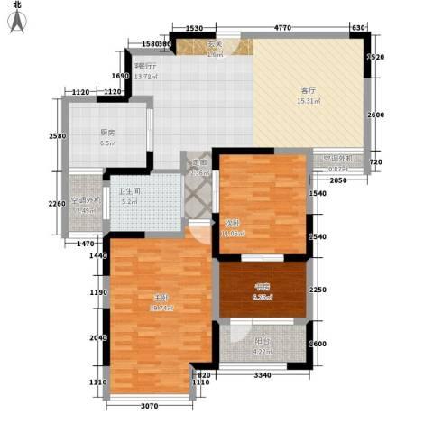 马涧花园3室1厅1卫1厨102.00㎡户型图