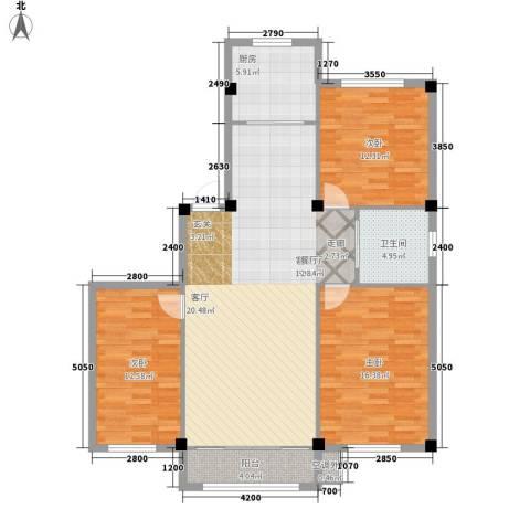 美之苑3室1厅1卫1厨212.00㎡户型图