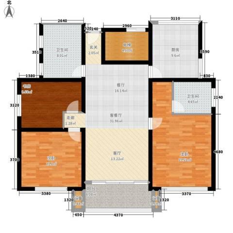 凤凰花园城3室1厅2卫1厨124.00㎡户型图