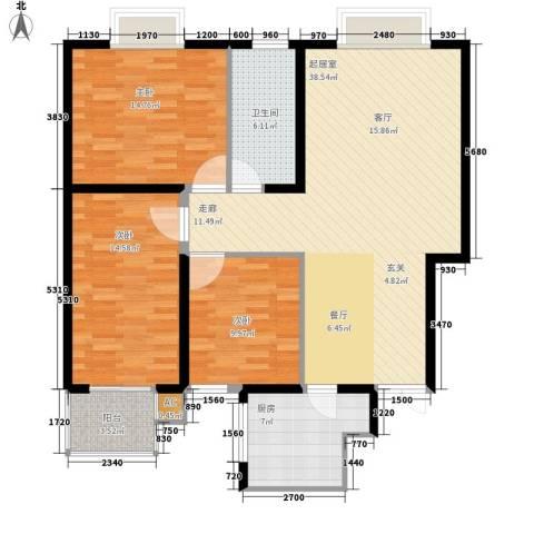 金源经典3室0厅1卫1厨106.00㎡户型图