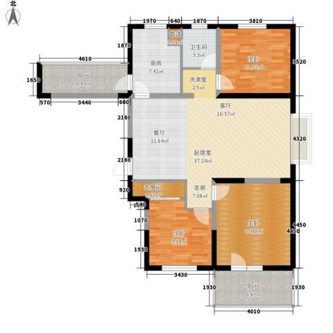 朗诗绿色街区3室0厅1卫1厨115.00㎡户型图
