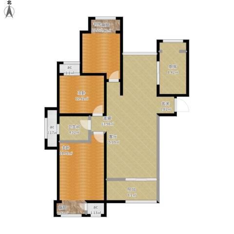 印象欧洲3室1厅1卫1厨146.00㎡户型图