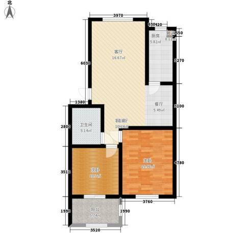 华阳山庄2室1厅1卫1厨89.00㎡户型图