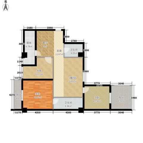 鼎新公寓3室0厅2卫1厨133.00㎡户型图