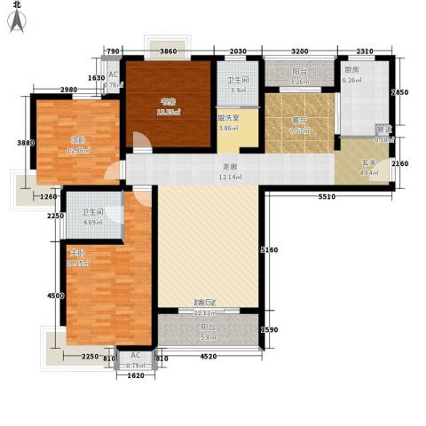 王天井巷3室0厅2卫1厨118.86㎡户型图
