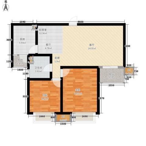 青湖丽苑2室0厅1卫1厨104.00㎡户型图