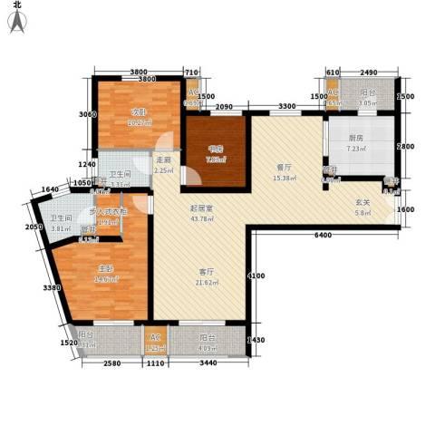 中海御湖公馆3室0厅2卫1厨133.00㎡户型图