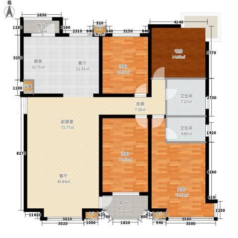 万锦花语岸4室0厅2卫0厨180.00㎡户型图