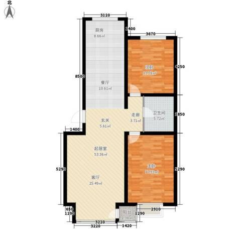 万锦花语岸2室0厅1卫0厨102.00㎡户型图