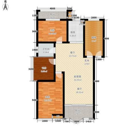 水木兰庭3室0厅1卫1厨112.46㎡户型图