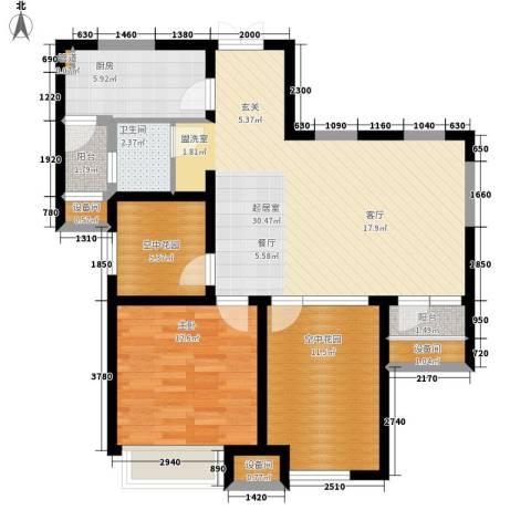 复地优尚国际1室0厅1卫1厨83.00㎡户型图