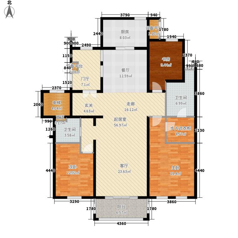 天正桃源156.00㎡一期4号楼标准层面积15600m户型
