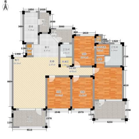 岗家寨小区4室0厅2卫1厨145.35㎡户型图