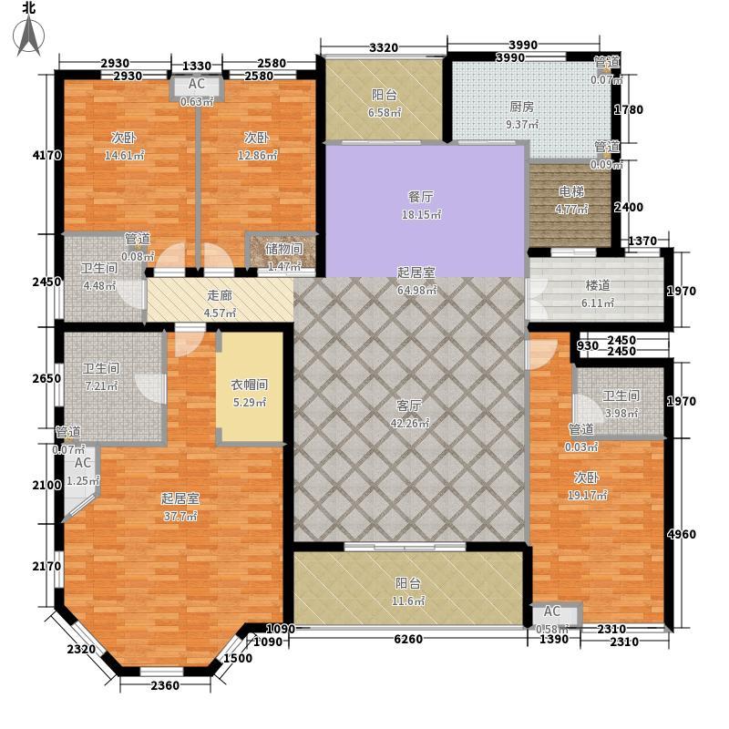 曲江观邸238.00㎡15#楼A4面积23800m户型