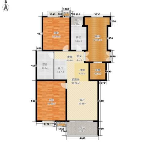 苏宁馨瑰园2室0厅0卫2厨141.00㎡户型图