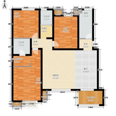 世纪金园3室0厅2卫1厨173.00㎡户型图