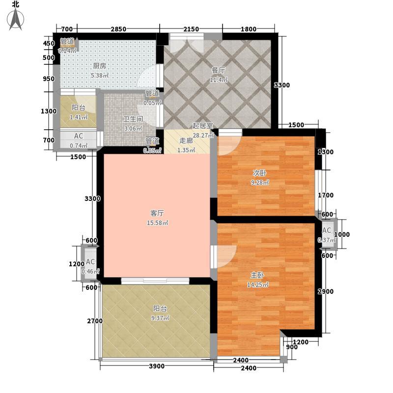 曲江观邸93.00㎡33#A(售罄面积9300m户型