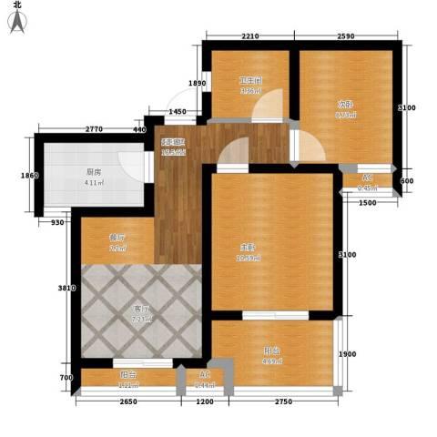 天下荣郡2室0厅1卫1厨73.00㎡户型图