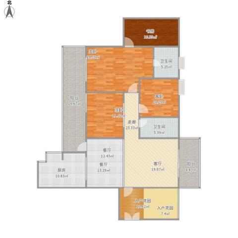 城市春天4室1厅2卫1厨195.00㎡户型图