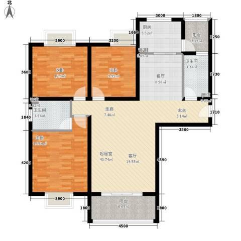 金源御景华府3室0厅2卫1厨144.00㎡户型图