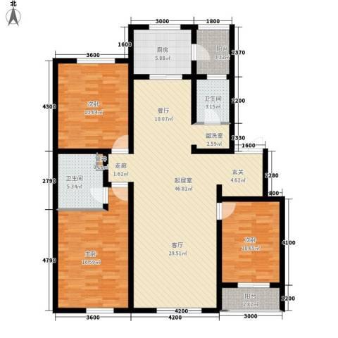 安联蓝水晶3室0厅2卫1厨155.00㎡户型图